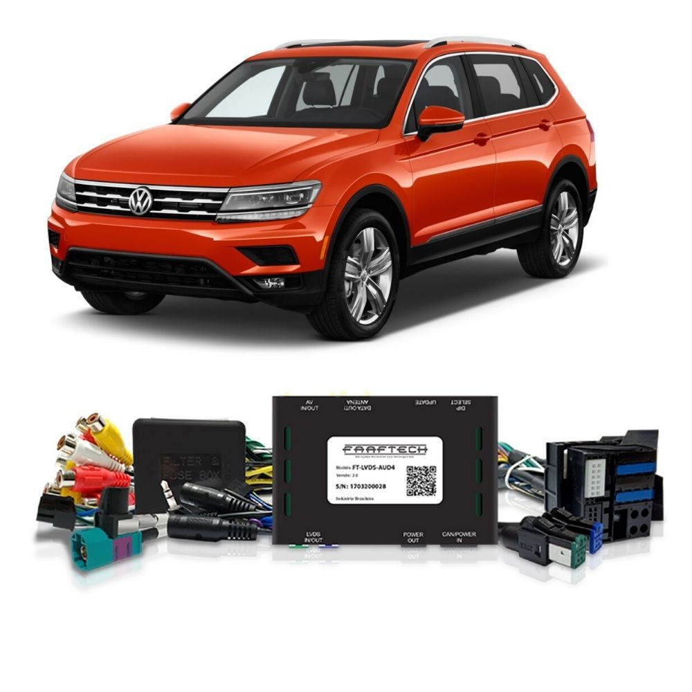Interface De Multimídia  - Audi/Porsche/Golf/Tiguan/Passat - Faaftech FT-LVDS-AUD4