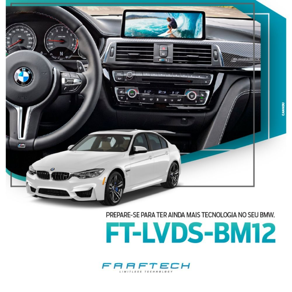 Interface de Vídeo Linha BMW FT-VIDEO-LVDS-BM12 - Faaftech