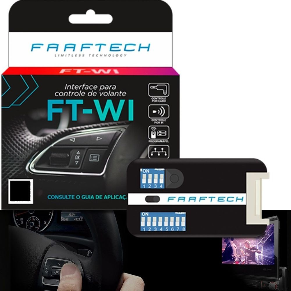 Interface de volante Faaftech  FT-WI - Cam /Res. Cabo/IR