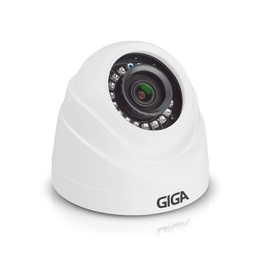 Kit DVR 4 canais Híbrido 1080N Open HD Saída BNC + HD Seagate 1TB + Câmeras de segurança Dome Plástica Giga
