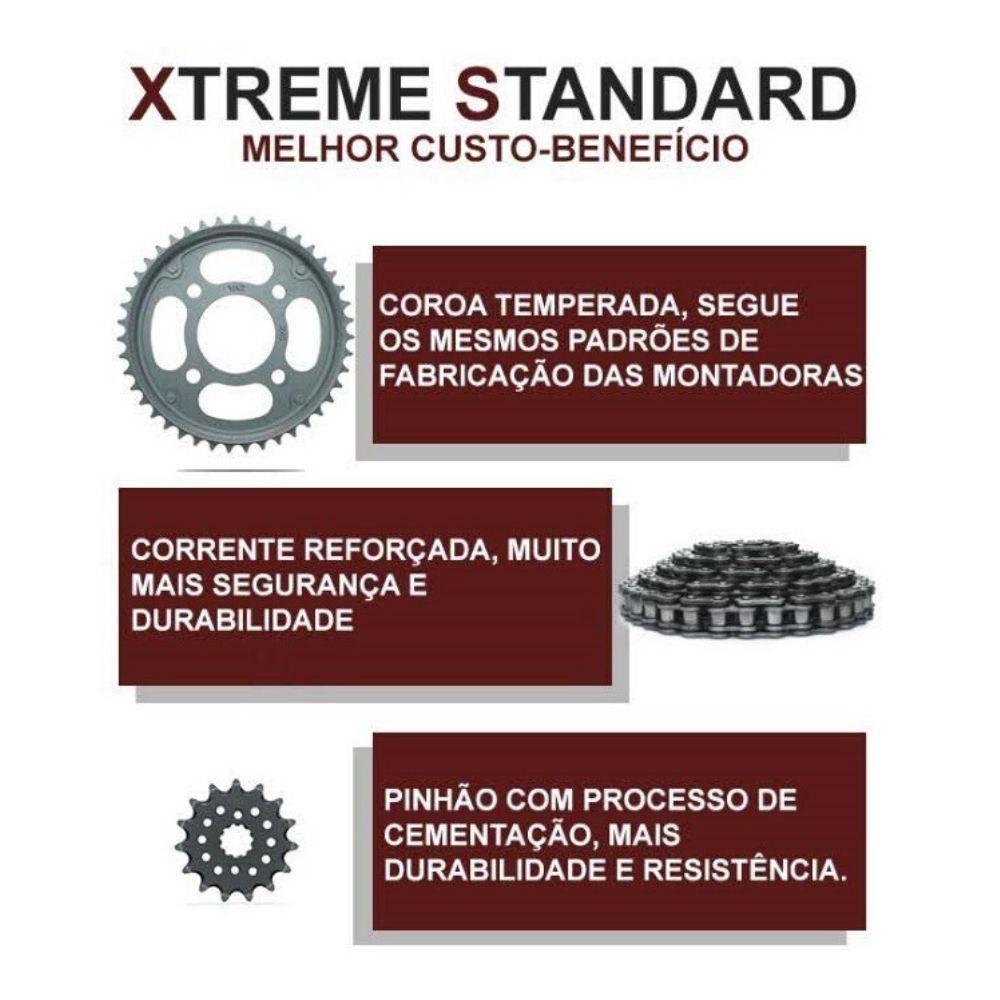 Kit Relação Transmissão Honda BIZ 100 1998 até 2005 Xtreme Standard (XS) Promoção H00010XS - VAZ