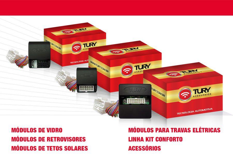 Modulo de Vidro Tury com Anti-esmagamento PRO2.18EA - Ranger 2013 até 2016