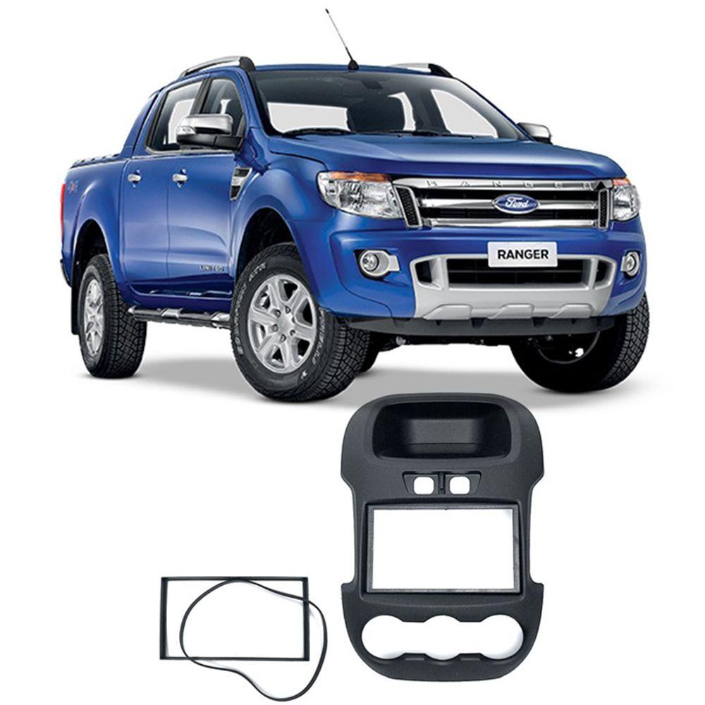 Moldura 2 Din Ford Ranger 2012 2013 2014 2015 JP CH Expex - EPX 100 Com botões
