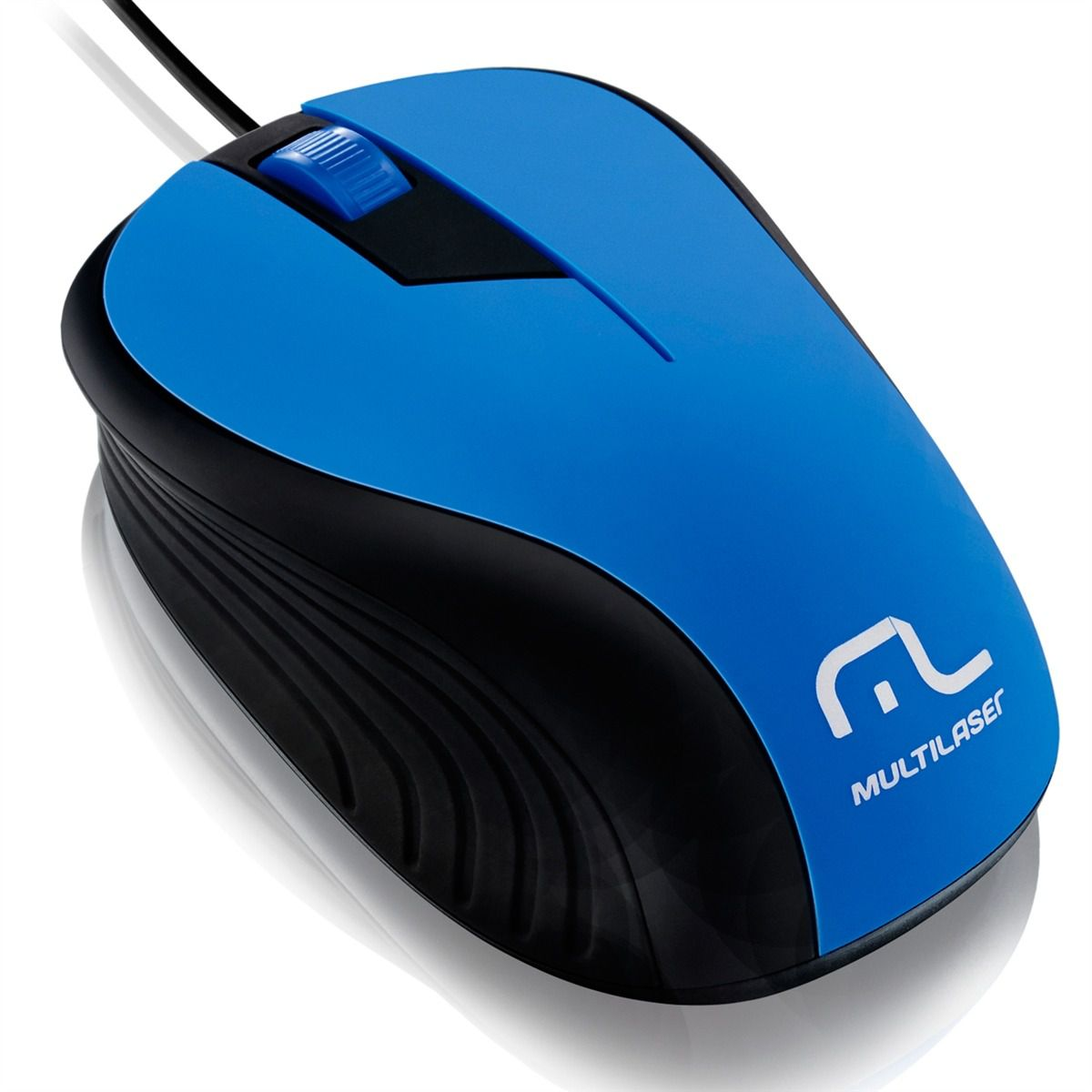 Mouse USB (embor) 1200dpi MO226 azul/preto - Multilaser