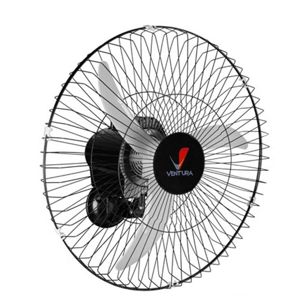 Ventilador de Parede Venti-Delta Oscilante 60cm 146 Fios Ventura Preto Bivolt