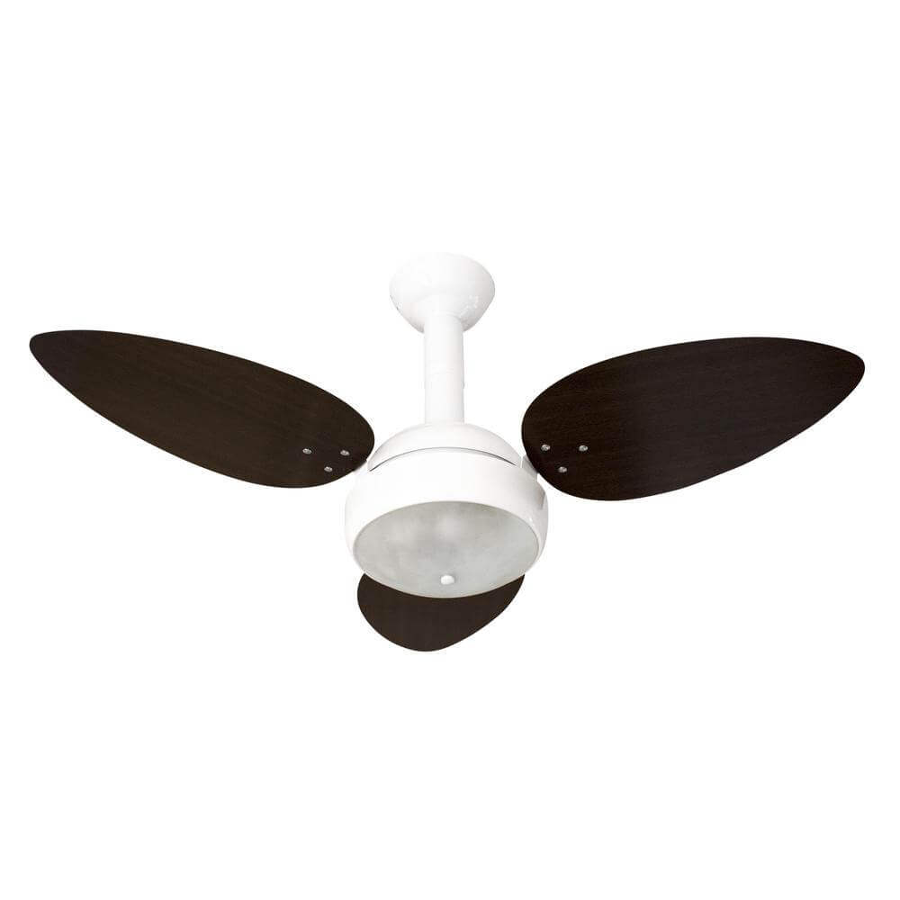 Ventilador de Teto Venti-Delta Miray 3 Pás - Tabaco e Branco 127V