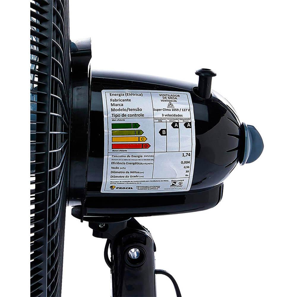 Ventilador Venti-Delta Oscilante Soft Mesa 40cm Preto 127V