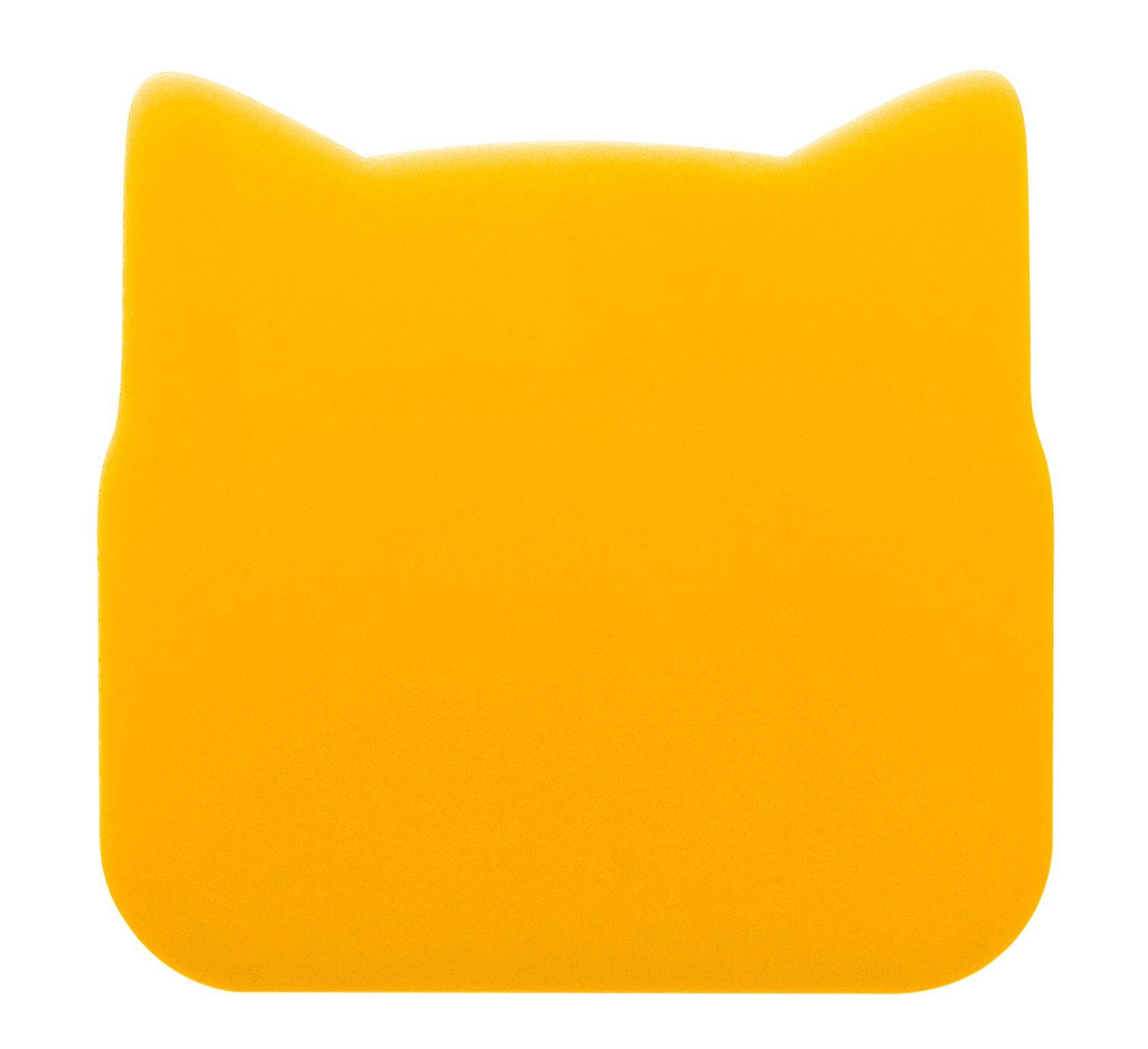 Porta copo amarelo