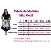 VESTIDO MIDI GODÊ (ACOMPANHA CINTO)