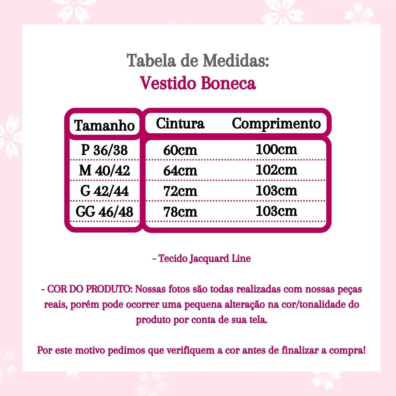VESTIDO BONECA (ACOMPANHA CINTO)