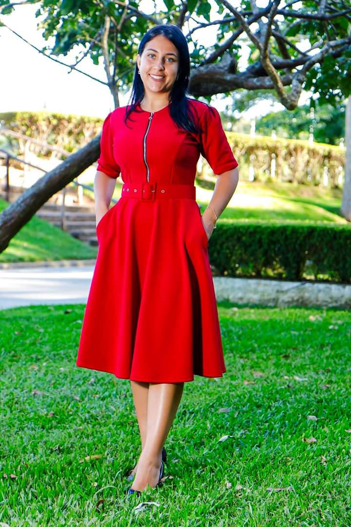 Vestido de zíper P/M/G/GG