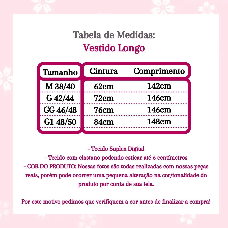 VESTIDO LONGO ESTAMPADO (ACOMPANHA CINTO)