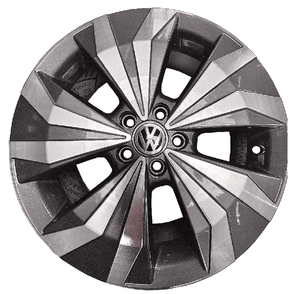 Roda Lanzonne 16x6 5x100 Et38 Cb57,1 Grafite Diamant T Cross