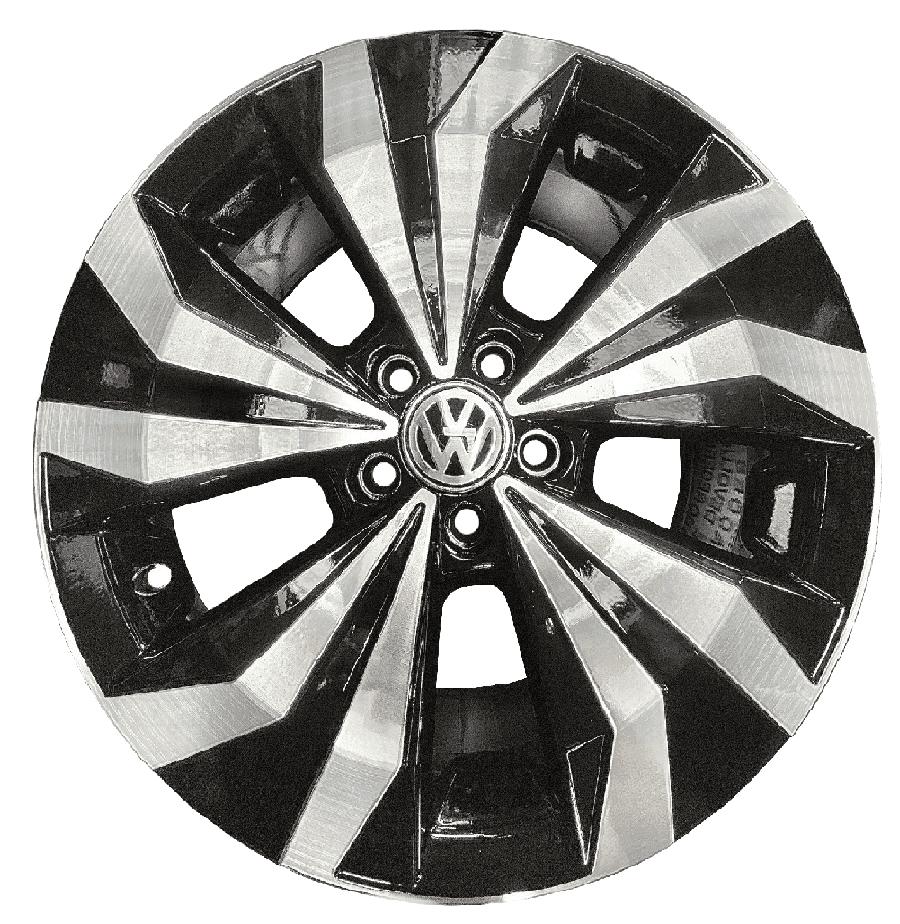 Roda Lanzonne 16x6 5x100 Et38 Cb57,1 Preto Diamantado Tcross