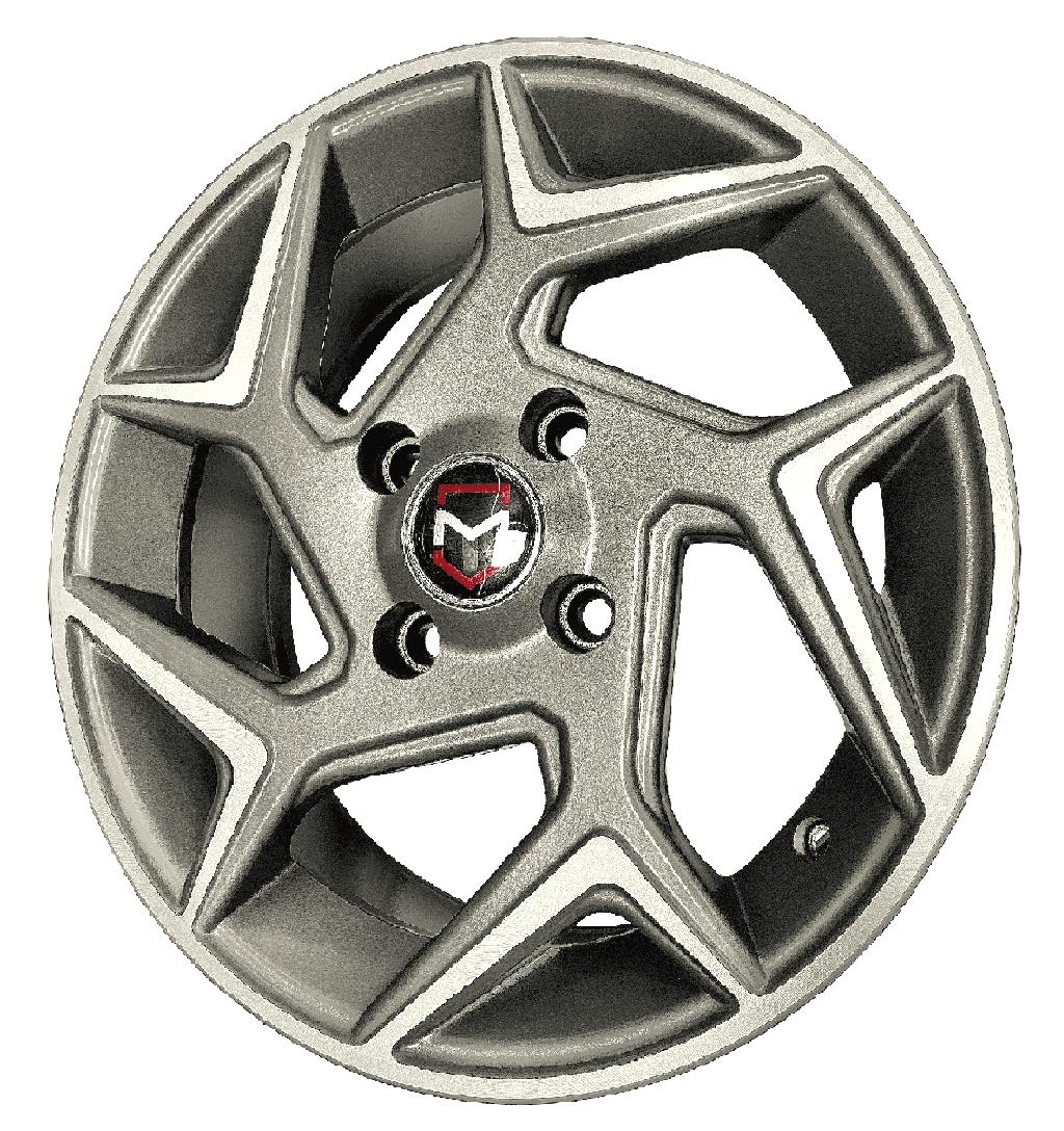 Roda Mw010 15x60 4x108 Et40 Grafite Diamantado New Fiesta