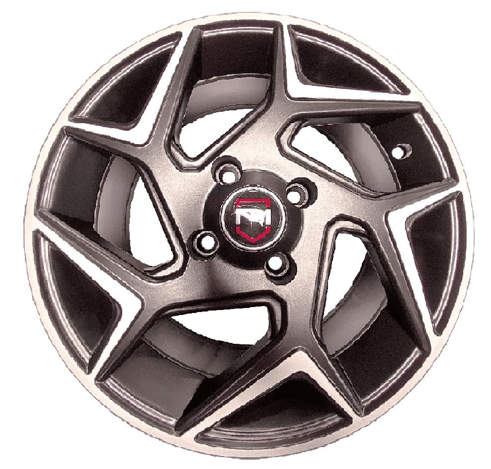 Roda Mw010 15x60 4x108 Et40 Preto Diamantado New Fiesta