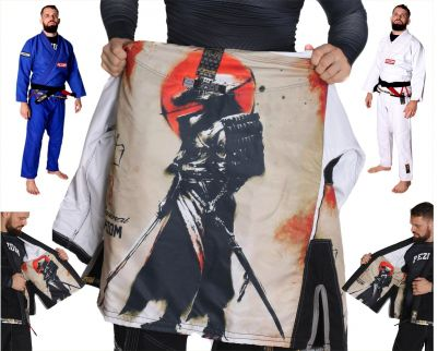 Kimono Jiu Jitsu Trançado 100% Forrado Samurai Color Pezom e Faixa