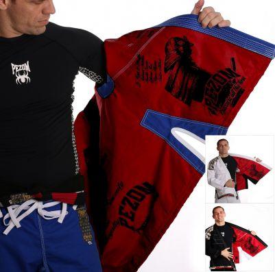 Kimono Jiu Jitsu Trançado 100% Forrado Samurai Pezom e Faixa