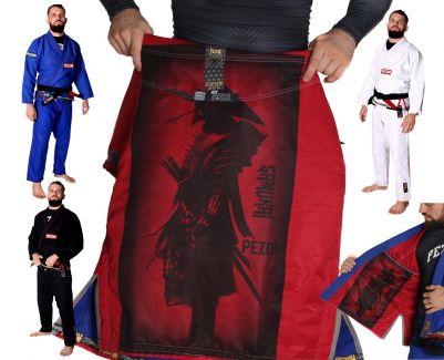 Kimono Jiu Jitsu Trançado 100% Forrado Samurai Tadakatsu Pezom e Faixa