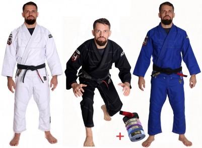 Kimono Jiu Jitsu Trançado Adulto 4X4 Pezom e Faixa