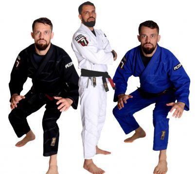 Kimono Jiu Jitsu Trançado Adulto X7 Pezom e Faixa