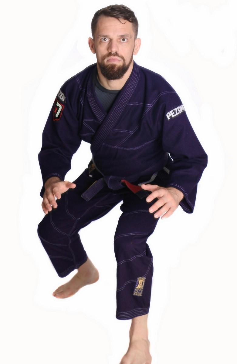 Kimono Jiu Jitsu Trançado Adulto X7 Remodel Azul Marinho Pezom e Faixa