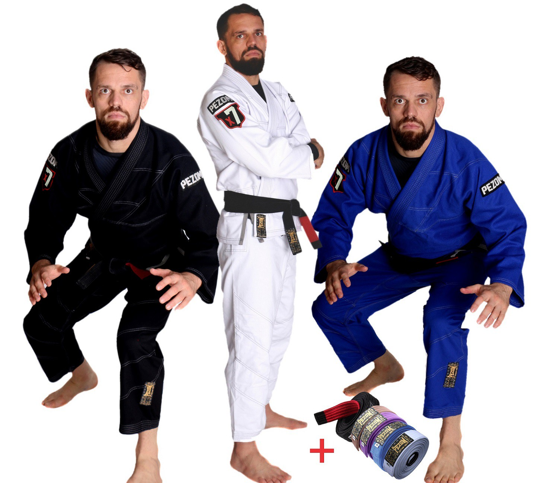Kimono Jiu Jitsu Trançado Adulto X7 Remodel Pezom e Faixa