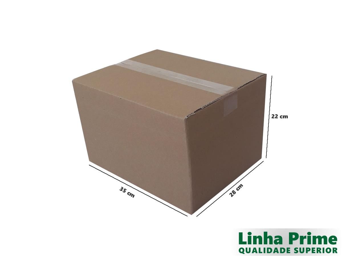 10 Caixas de Papelão 35x28x22 cm LINHA PRIME