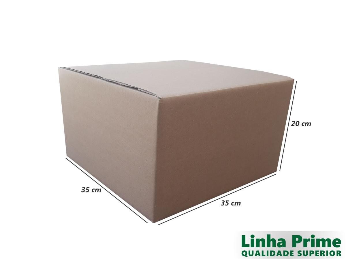 10 Caixas de Papelão 35x35x20 cm LINHA PRIME