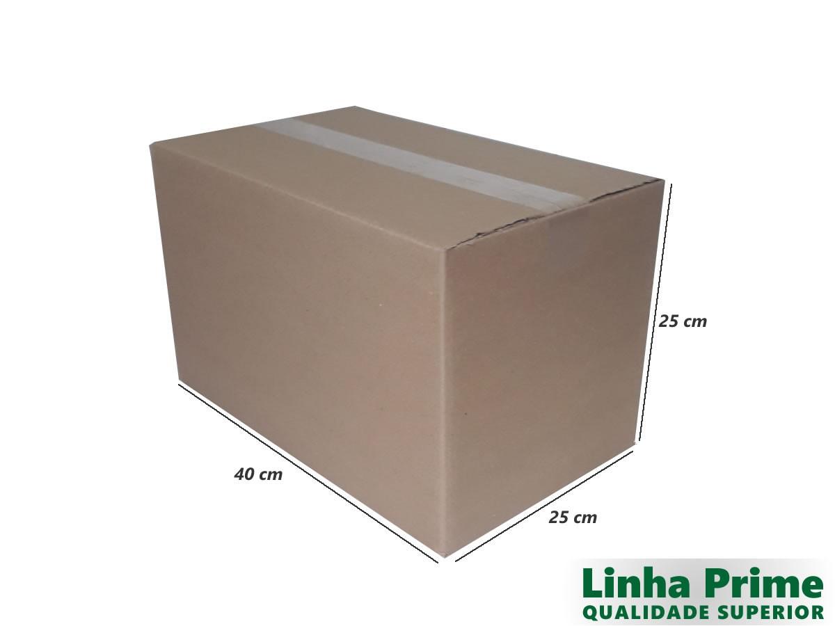 10 Caixas de Papelão 40x25x25 cm LINHA PRIME