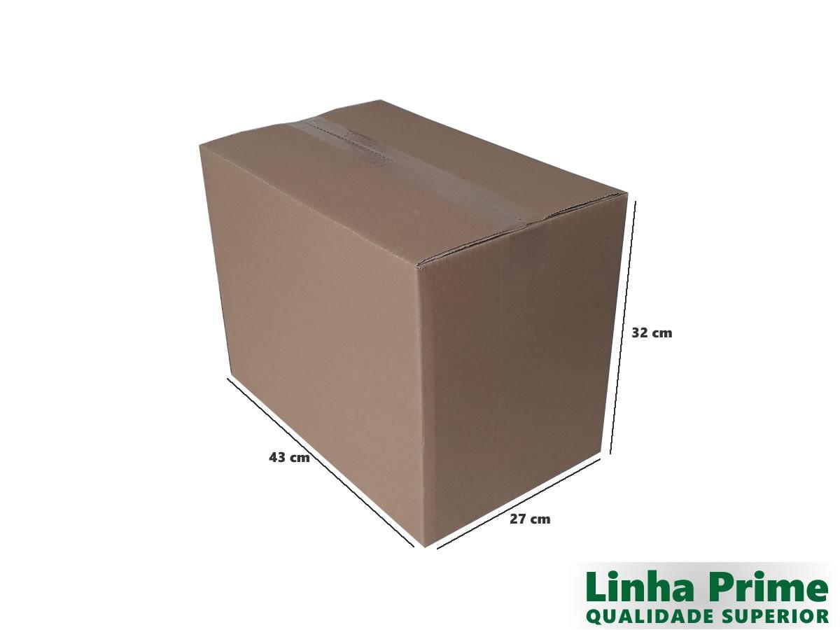 10 Caixas de Papelão 43x27x32 cm LINHA PRIME
