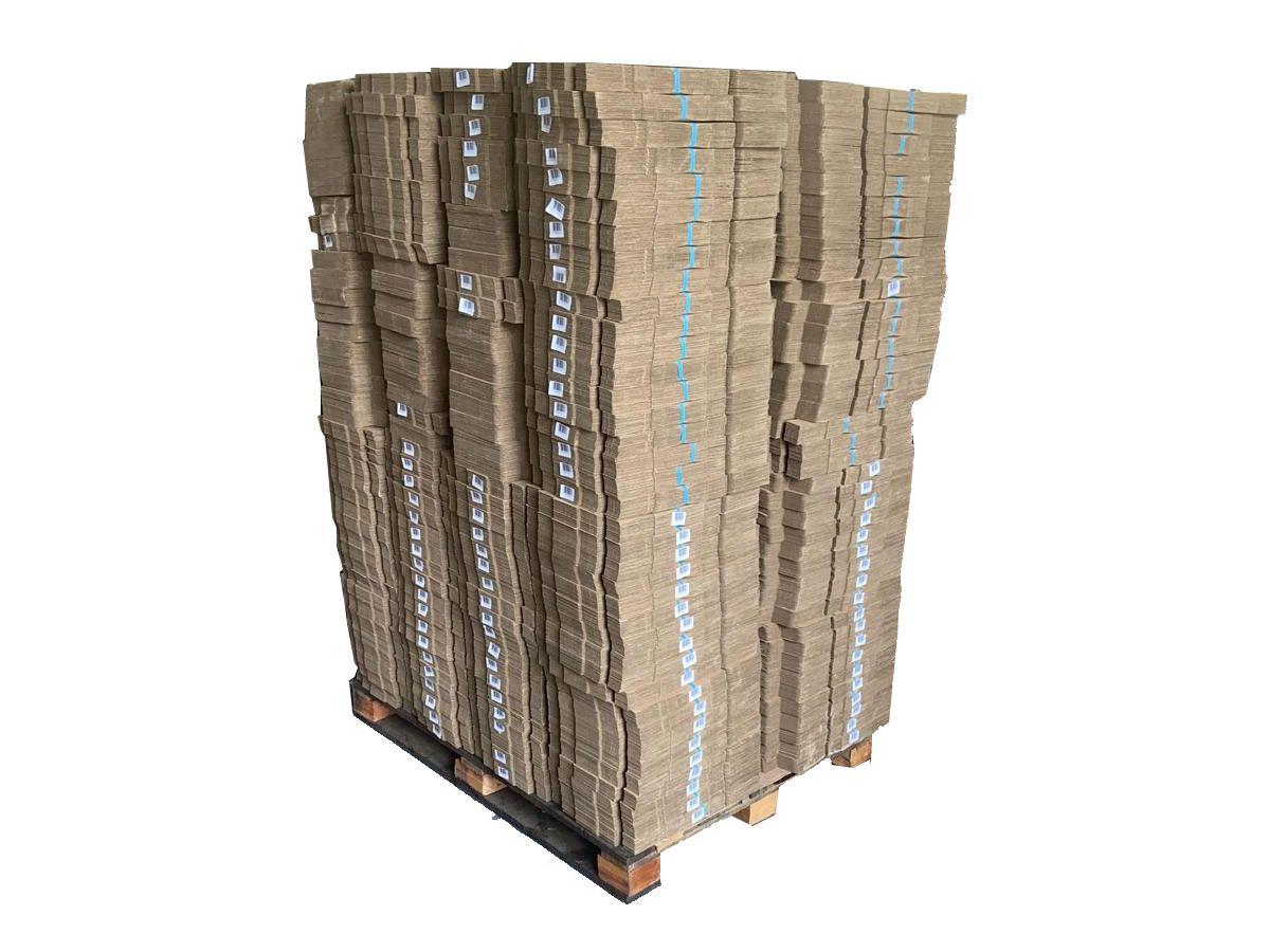 1 Lote de caixas 61x21x32 cm - 875 unidades