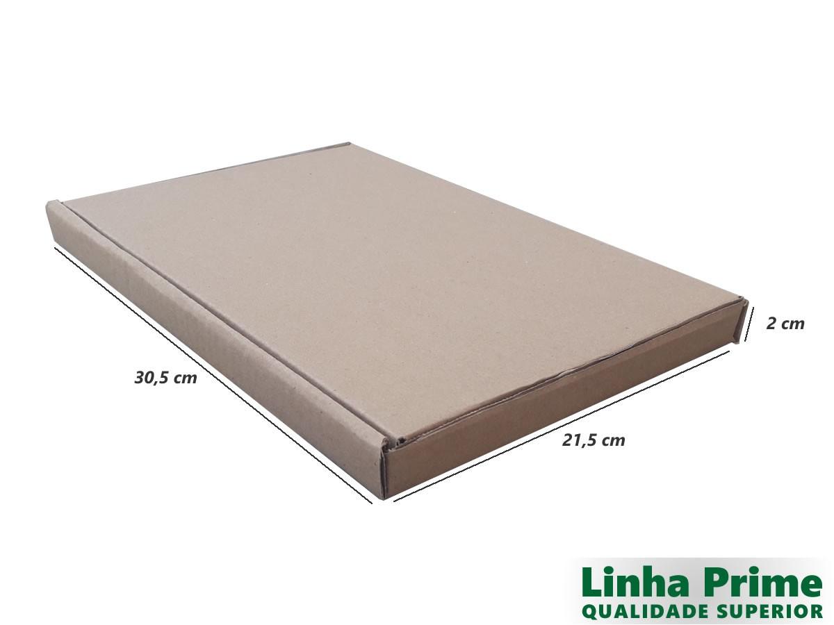 25 Caixas de Papelão 30,5x21,5x2 cm LINHA PRIME