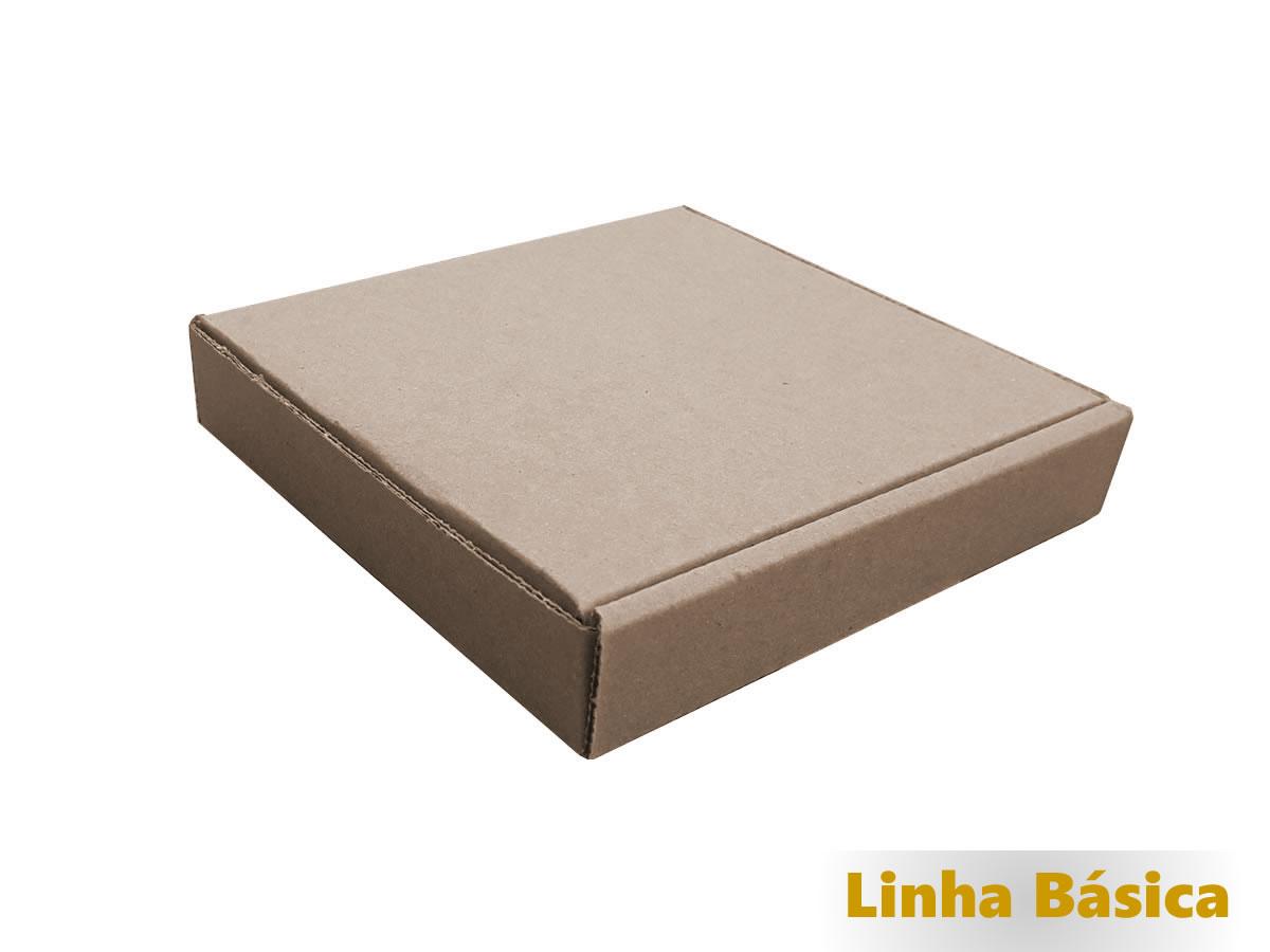 25 Caixas de Papelão 14x13x2,5 cm LINHA BÁSICA