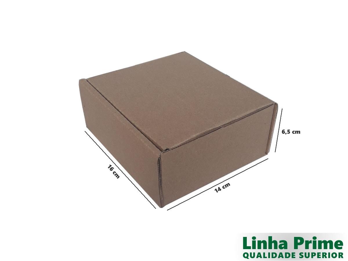 25 Caixas de Papelão 16x14x6,5 cm LINHA PRIME