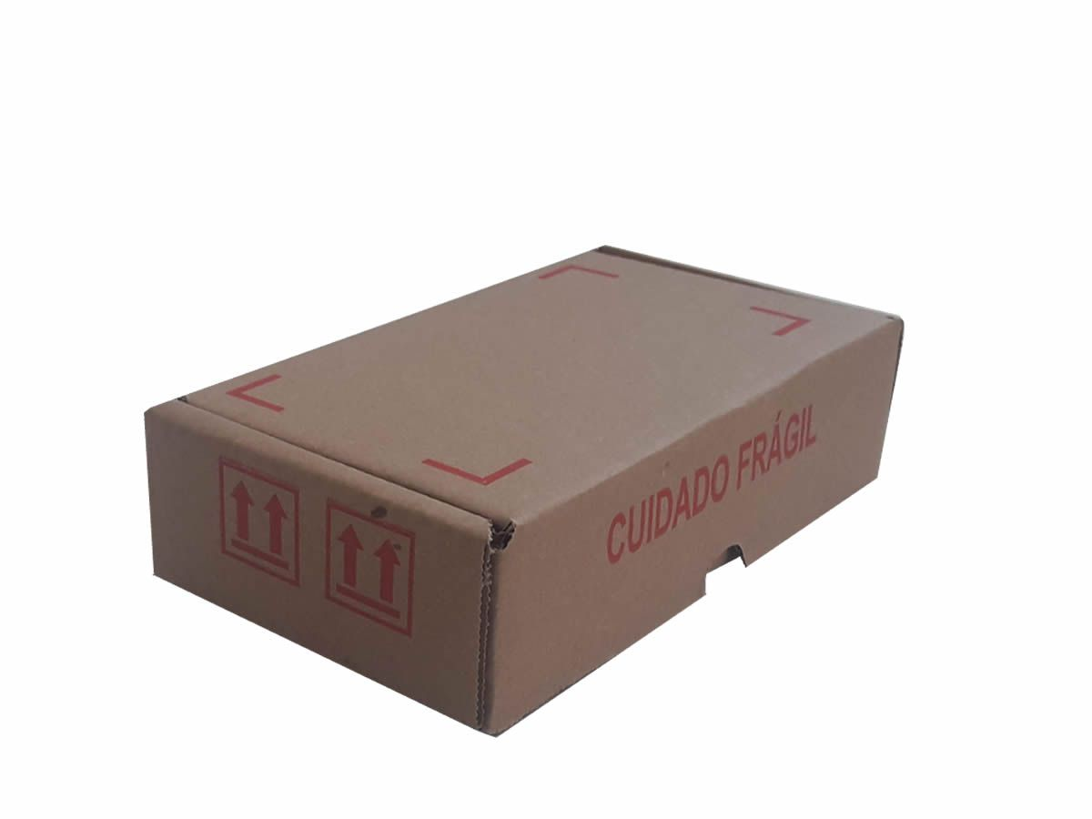"""25 Caixas de papelão 20x11x5 cm com impressão """"FRÁGIL"""" - PRIME"""