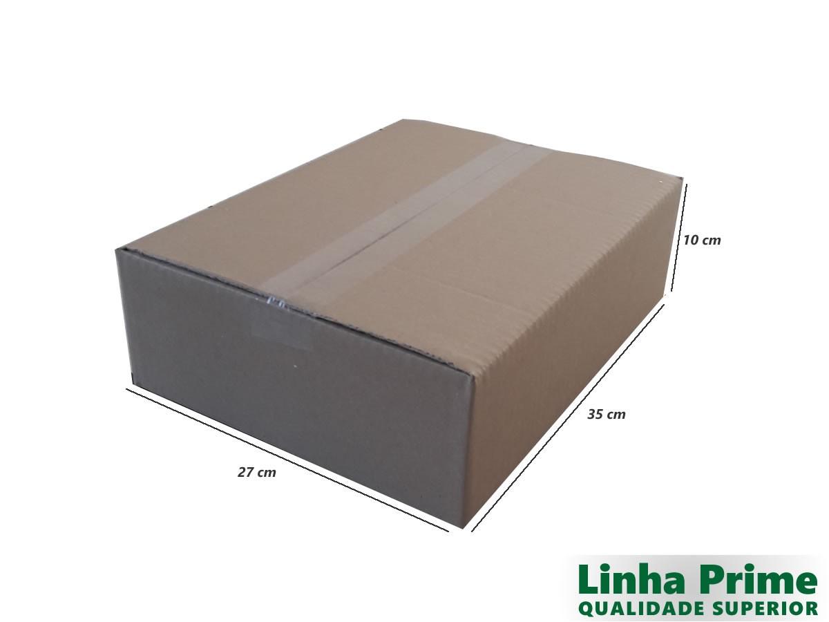 25 Caixas de Papelão 35x27x10 cm LINHA PRIME