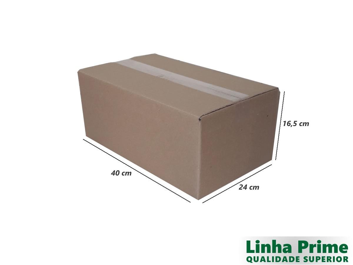 25 Caixas de Papelão 40x24x16,5 cm LINHA PRIME