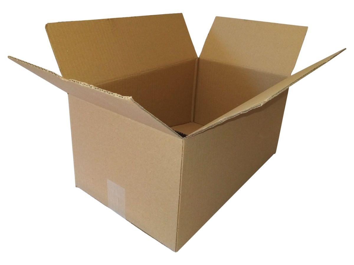 25 Caixas de papelão 44,5x27x20,5 cm para correio e transportes