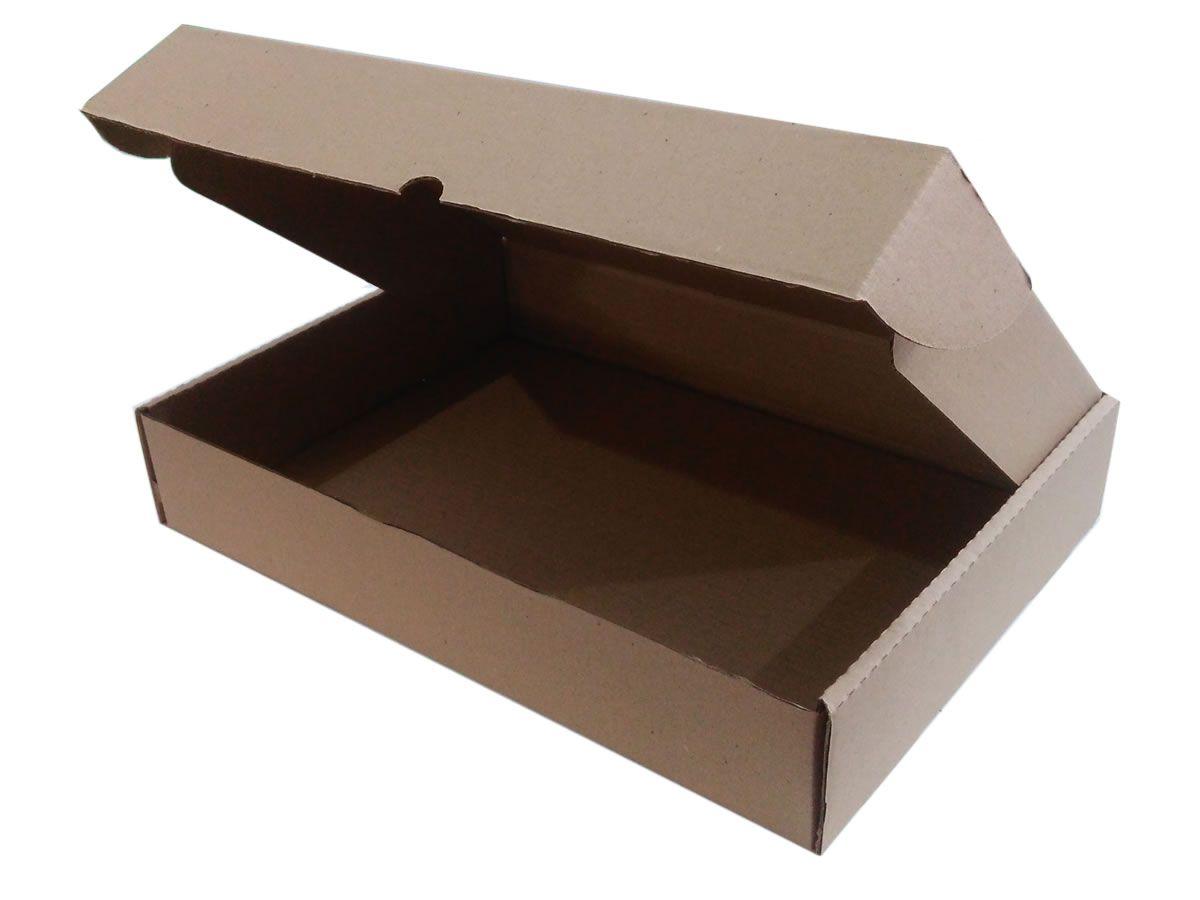 25 Caixas de Papelão 46,5x33,7x8 cm para correio e transportes