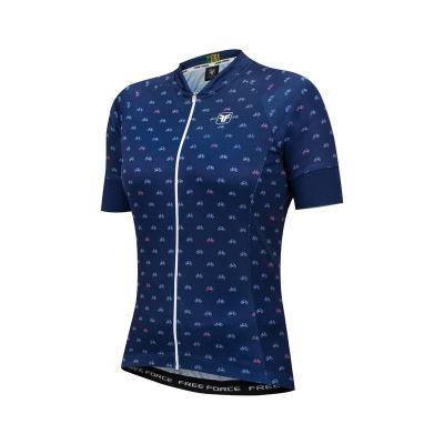 Blusa de Ciclismo Feminina Free Force Sport Cycles Azul Marinho