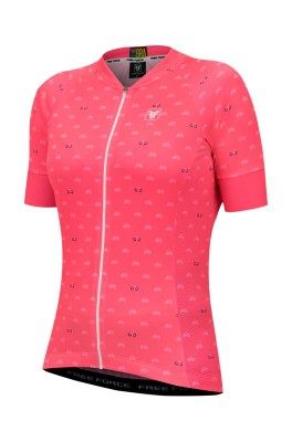 Blusa de Ciclismo Feminina Free Force Sport Cycles Coral