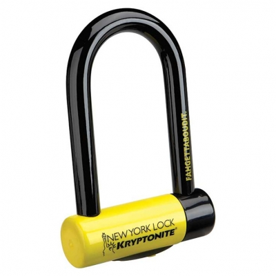 Cadeado Kryptonite New York Fahgettaboudit Mini U-Lock com Chave
