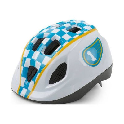 Capacete Infantil Polisport S Junior Race Branco Azul
