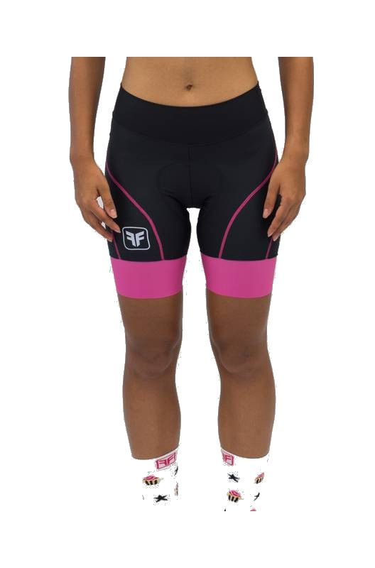 Bermuda de Ciclismo Feminina Free Force Queen Pto/Rsa