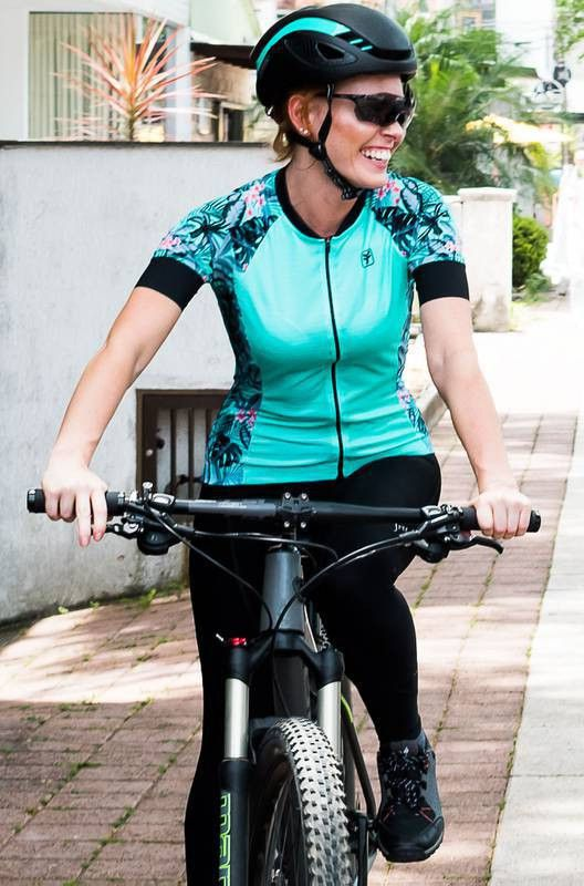 Blusa de Ciclismo Feminina Free Force Sport Aloha