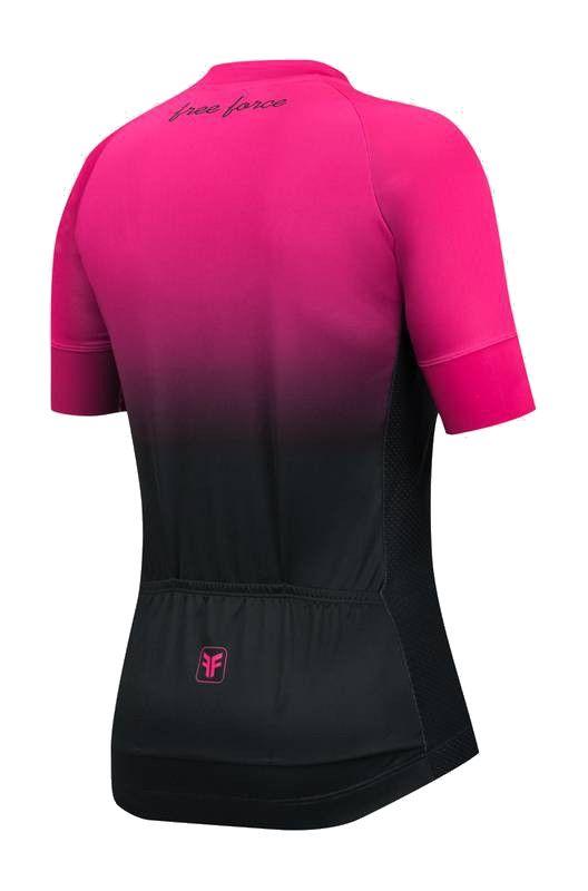 Blusa de Ciclismo Feminina Free Force Sport Dual Preta/Rosa
