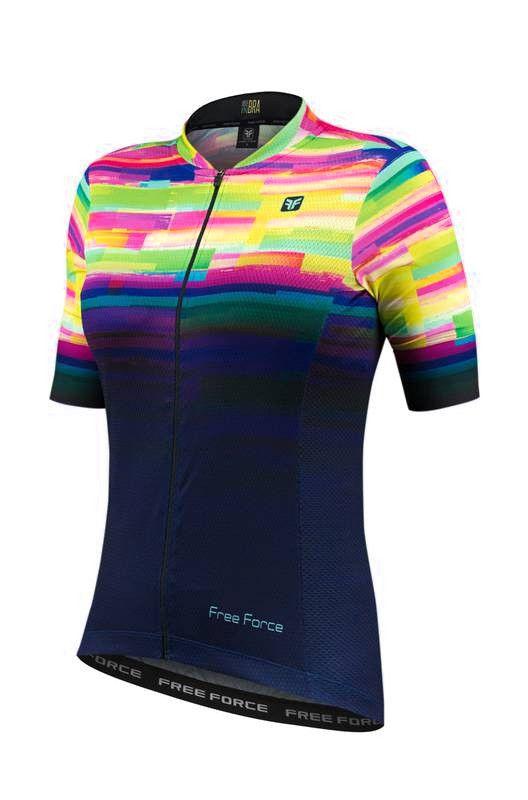 Blusa de Ciclismo Feminina Free Force Sport Psicodelic