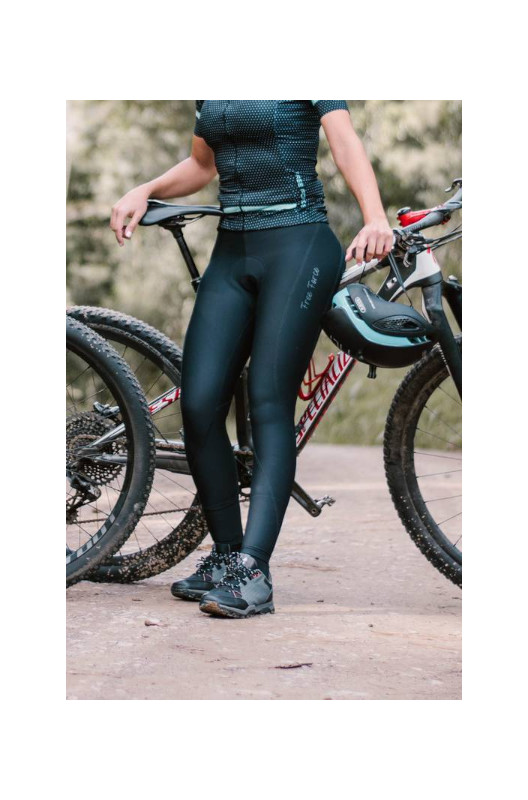 Calça de Ciclismo Feminina Free Force Sport Mona Preta/Chumbo