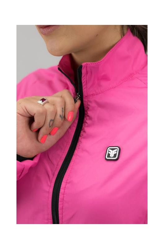 Jaqueta Corta-Vento Feminina Free Force Sport Rosa
